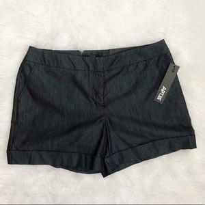 Apt. 9 Charcoal Gray Dress Shorts Mid Rise